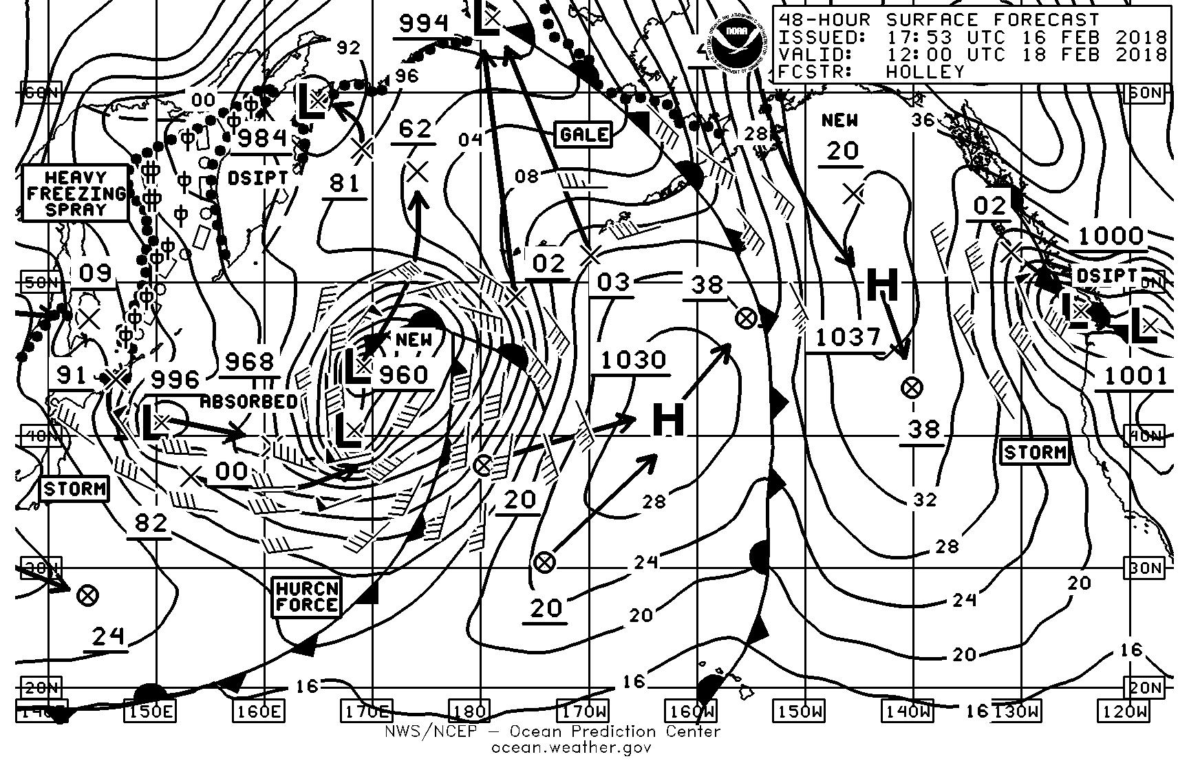 Puget sound marine weather sailish february 18 surface analysis nvjuhfo Image collections