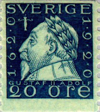 Швеция Марка 1920 Густав II Адольф