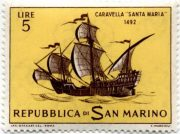 марка парусник Сан-Марино