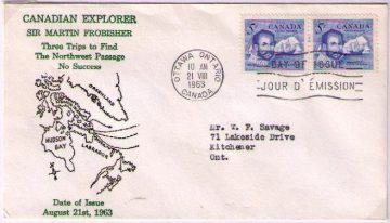 Фробишер конверт первого дня 1963