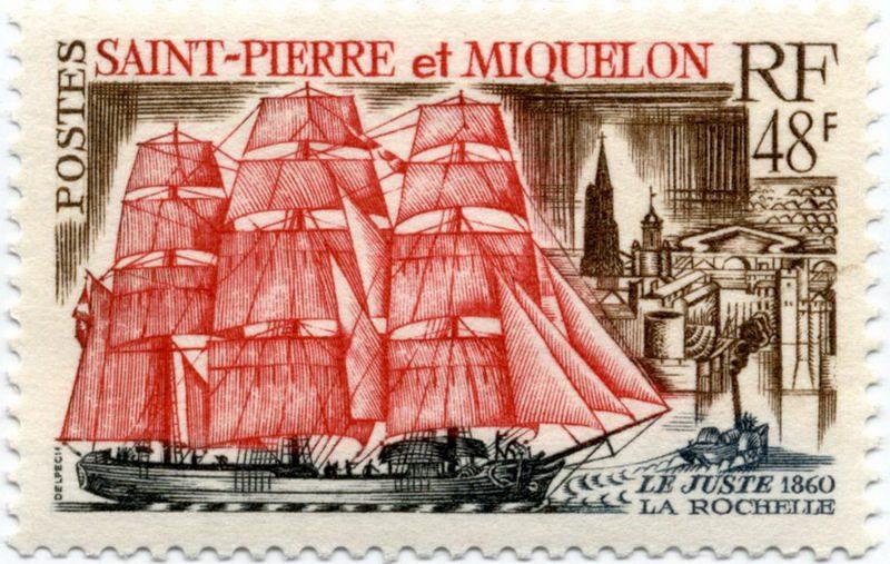 Сен-Пьер и Микелон — Исторические корабли, серия 1969 года
