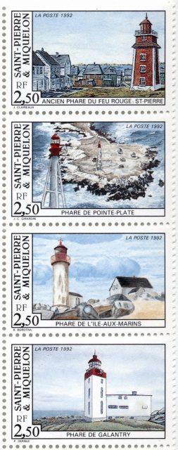марки маяки Сен-Пьер и Микелон, 1992