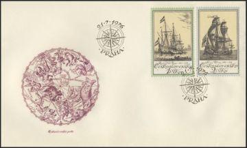 Чехословакия марки с парусниками