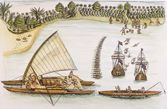 Тасман на о. Тонга