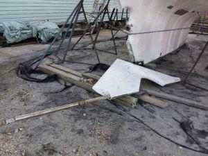 Rudder Removed
