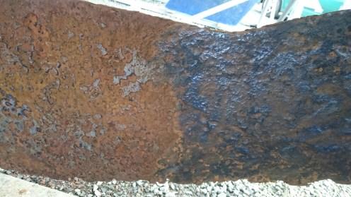 Avant / Après passage de la brosse métallique