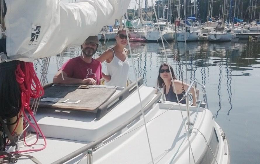 Arrivée au bateau