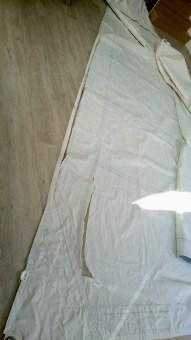 Avant de placer le tissus de réparation de voile autocollant