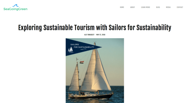 Sailors for Sustainability at Sea Going Green