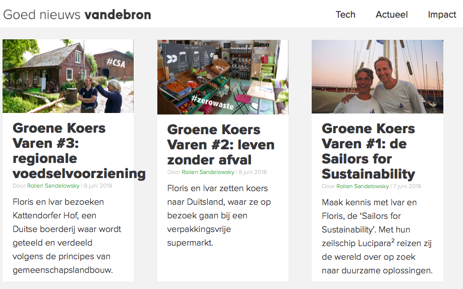 Sailors for Sustainability blogs at Vandebron