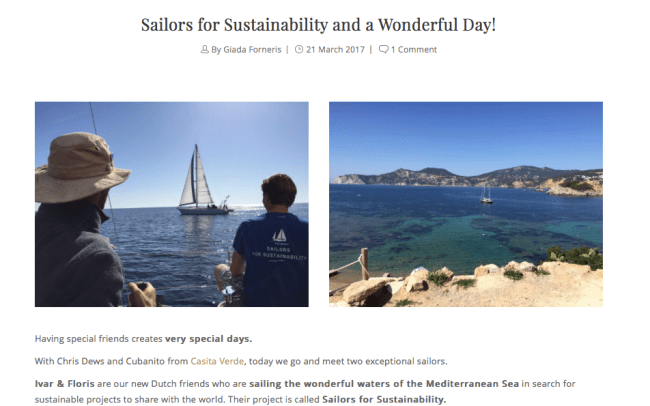 Sailors for Sustainability at Ibiland (Entonces Ibiza)