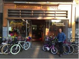 Sailors for Sustainability Floris at Amsterdam Cycling Repair Shop Freewheel