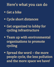 What you can do Cycling