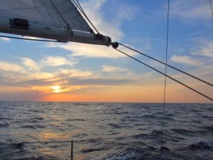 Sunset on North Sea