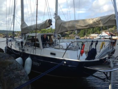 We found a great rock – mooring Norwegian style again