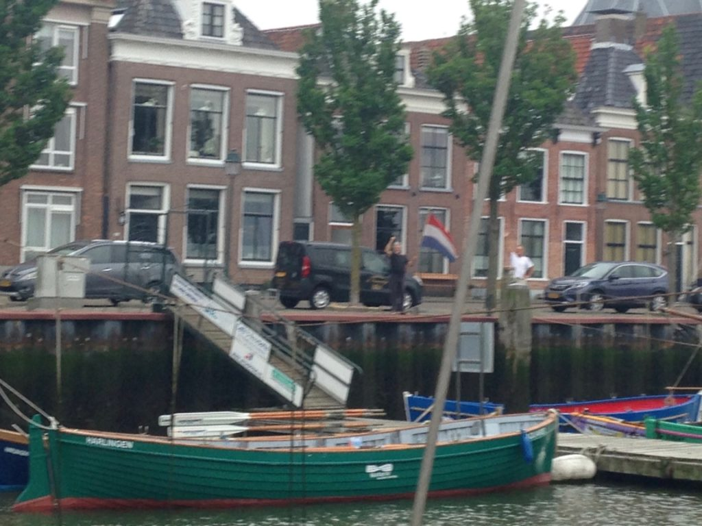 Maarten and Pieter wave us goodbye in Harlingen early in the morning