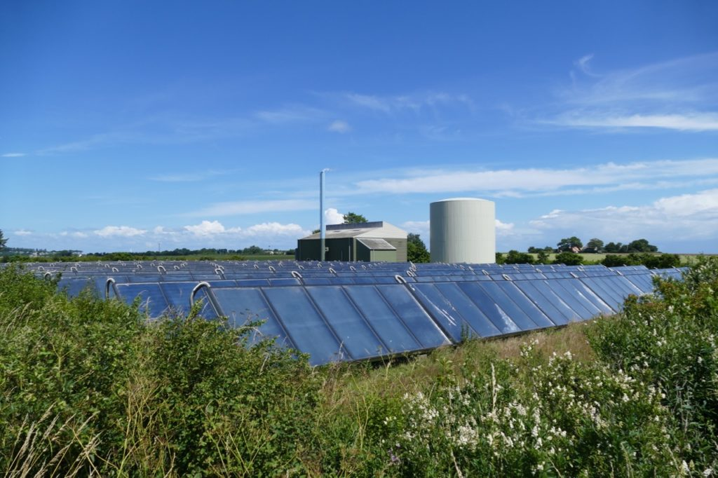 Community-owned plant on Samsø, Denmark turning solar and biomass energy into district heating