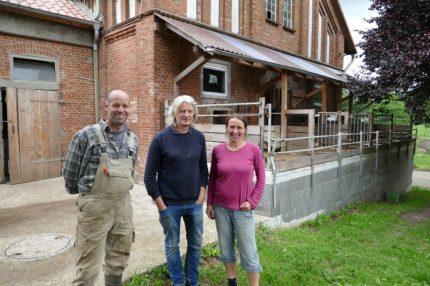 Mathias with two staff members of Kattendofer Hof
