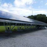 Solar carport at Samsø municipality