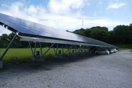 Solar carport at Samsø municipality