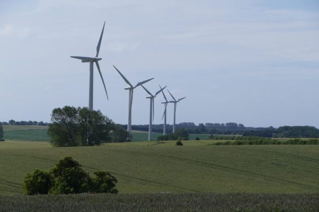 Wind turbines on Samsø