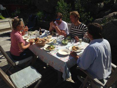 Lunch at Inger and Kjell's