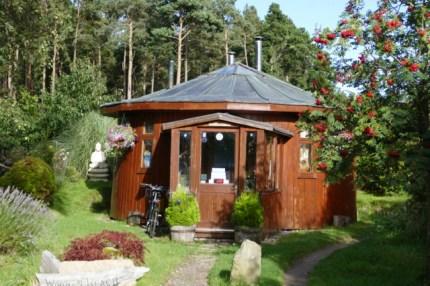 Eco Village Findhorn sustainable whisky barrel home