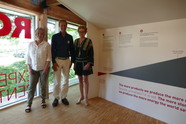 Susanne, Floris and Connie at Rockwool