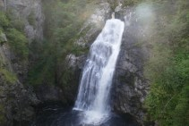 Forest waterfall at Foyers