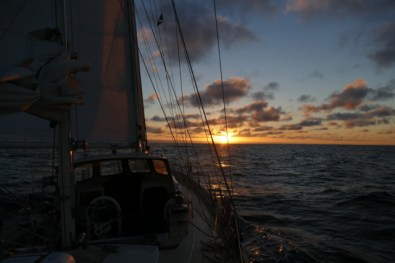 Smooth sailing into the sunset