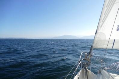 Approaching the Spanish coast near Bilbao