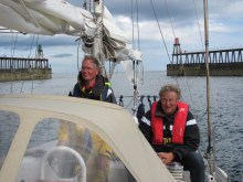 Bouke (r) with Ad (l) in Whitby, summer 2010