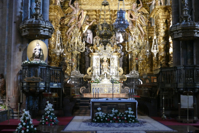 St James altar in Santiago Cathedral