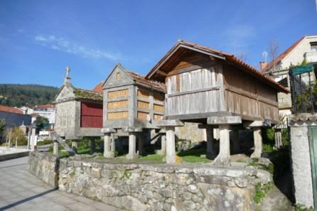 Typical storage houses (hórreos) in Combarro