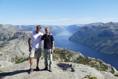 View from Preikestolen on Lysefjord in Norway