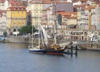 "Next to the ""Tres Hombres"" in Porto"