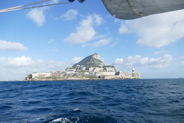 Sailing around the Rock