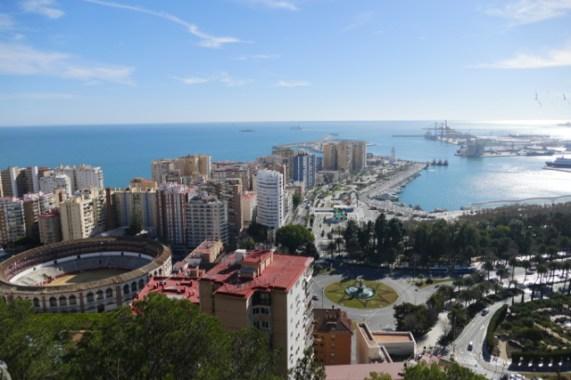 View on Málaga harbour