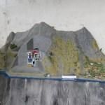 Model of hidden modern hydropower station