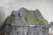Model of hidden modern hydropower station