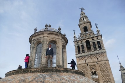 On the roof of the Cathedral in Seville