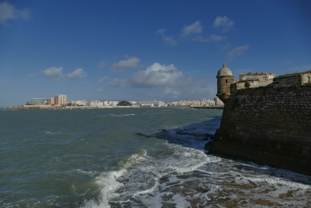 View on Cádiz from San Sebastián fortress
