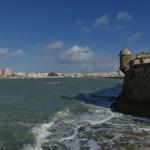 View on Cádiz from San Sebastián fortress