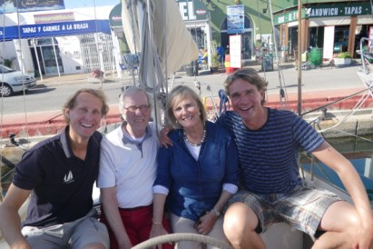 Family visit in Almerimar