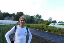 Ivar at the community farmland