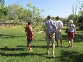 Touring Enzo's garden