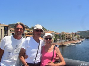 With Ivar's parents in Bosa