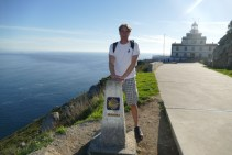Camino milestone 0.00 at Finisterre