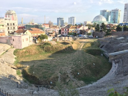 Old stones meet new in Durres