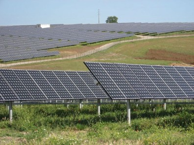 PV panels alongside the road